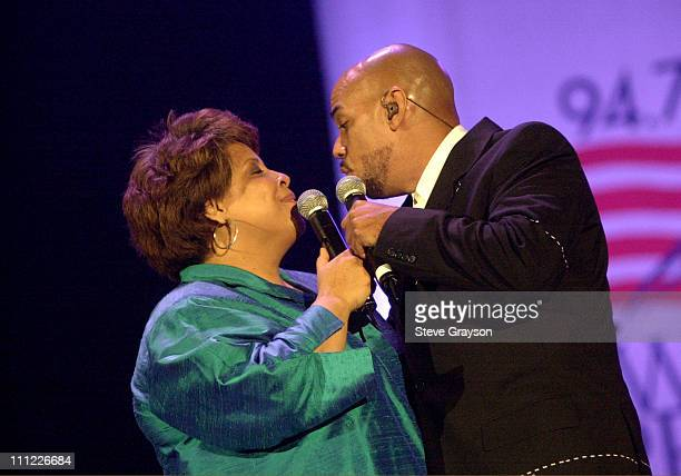 Patti Austin James Ingram during KTWV 947 A Wave of Peace Benefit Concert at The Great Western Fourm in Inglewood California United States