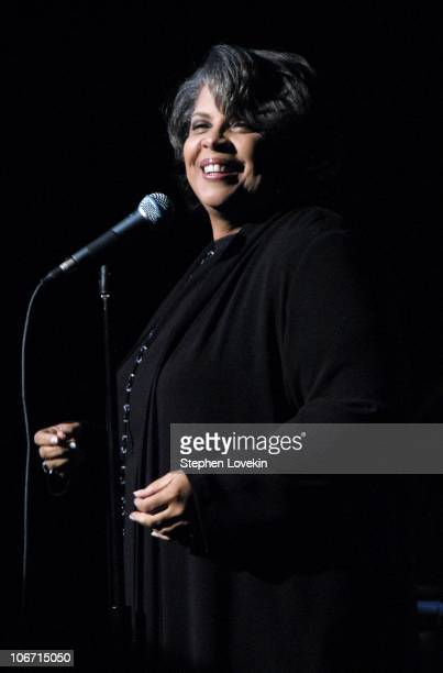Patti Austin performs during Emigrant Savings Bank's Building The Future One Life at a Time Program Celebrates Bebop and Ella Fitzgerald With a...