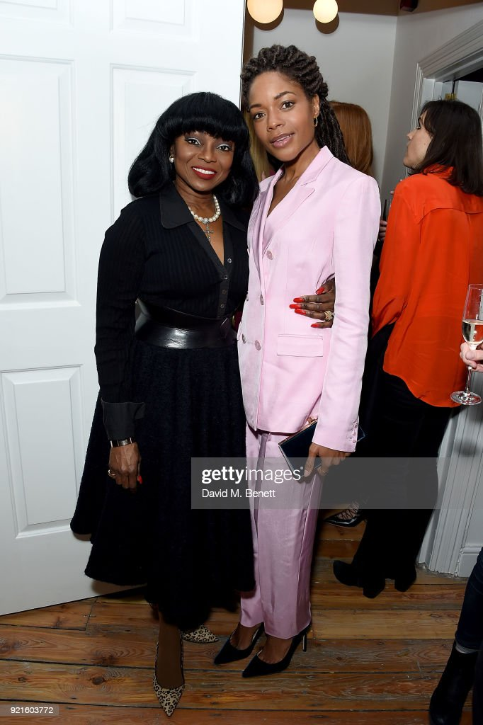 Patti Boulaye and Naomie Harris attend the first female-only members club in the UK for working women - The AllBright - that opens its doors to celebrities, politicians and actor's on February 20, 2018 in London, England.