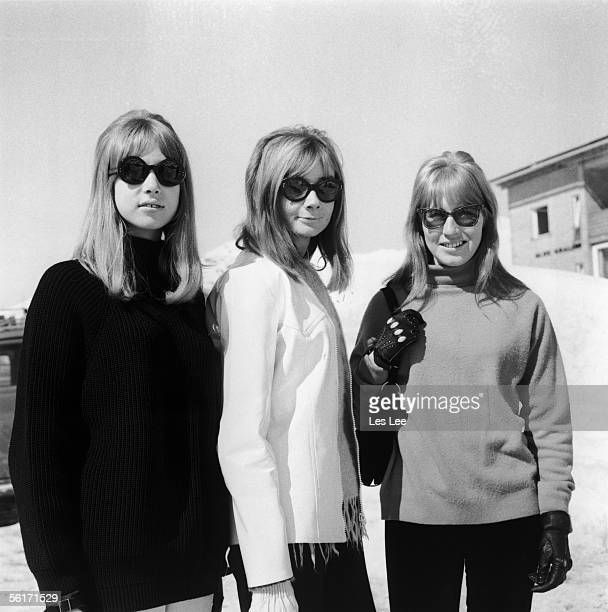 Patti Boyd and Cynthia Lennon in Austria on the location set of the Beatles film 'Help' 17th March 1965 They are respectively the partners of George...