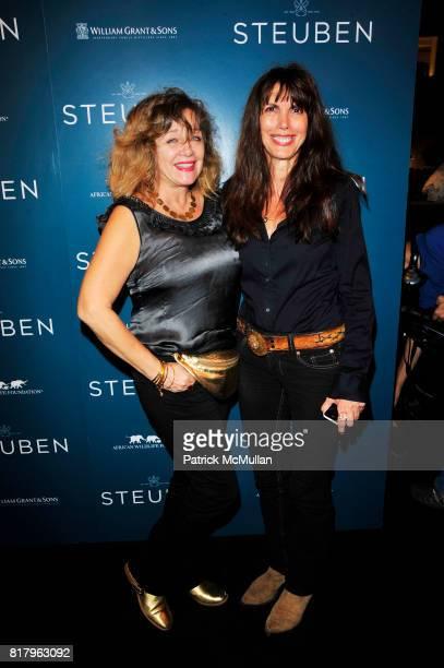 Patti D'Arbanville and Myra Scheer attend STEUBEN and Veronica Varekova host AFRICAN WILDLIFE FOUNDATION reception and silent auction at STEUBEN...