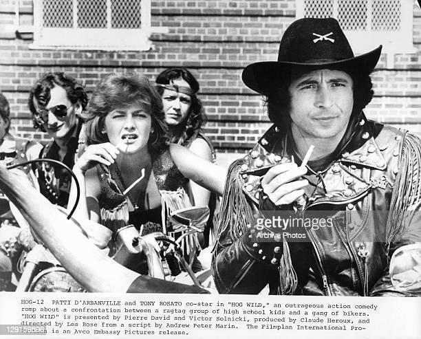 Patti D'Arbanville and Tony Rosato in a scene from the film 'Hog Wild' 1980
