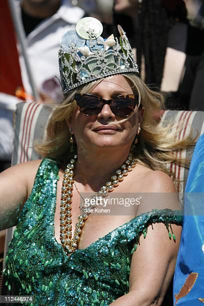Patti d'Arbanville during 25th annual Coney Island Astroland Mermaid Parade at Coney Island Boardwalk in Brooklyn New York United States