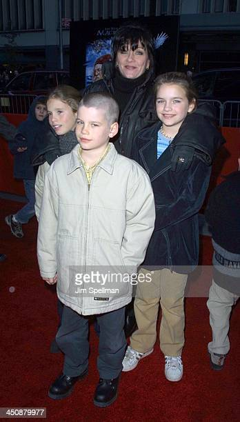 Patti D'Arbanville her Children during Harry Potter and The Sorcerer's Stone New York Premiere at The Ziegfeld Theatre in New York City New York...