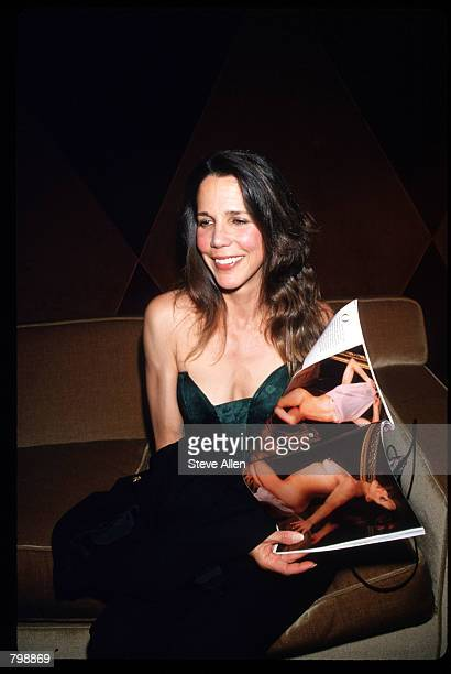 Patti Davis daughter of former President Ronald Reagan poses for pictures at a Playboy party June 7 1994 in New York City Playboy threw Davis the...