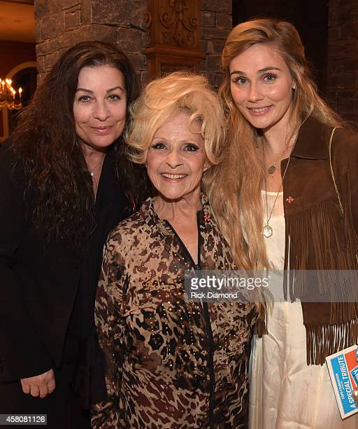 Patti Everly Rock and Roll Hall of Fame member Brenda Lee and ABC's Nashville cast member Clare Bowen attends A Tribute to Phil Everly to benifit...