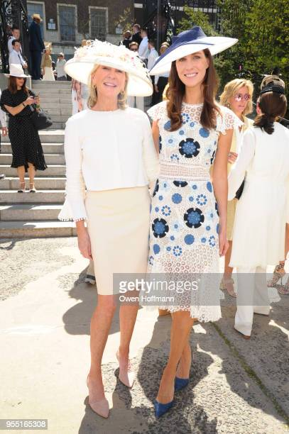 Patti Fast and Christina Adamson attend 36th Annual Frederick Law Olmsted Awards Luncheon Central Park Conservancy at The Conservatory Garden in...