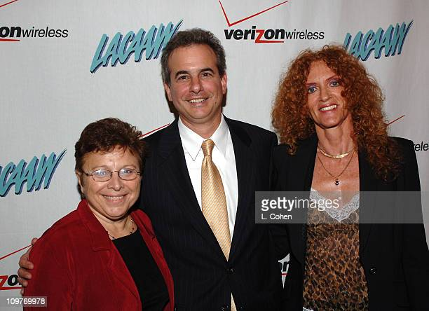 Patti Giggins Jack Weiss and Robbie Ruthstien during LACAAW Humanitarian Awards Dinner at Beverly Hills Hotel in Beverly Hills CA United States