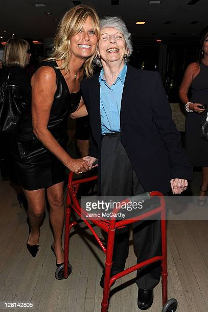 Patti Hansen and Grace Mirabella attend the celebration of the launch of Hung on U with Patti Hansen hosted by Barneys New York on September 22 2011...