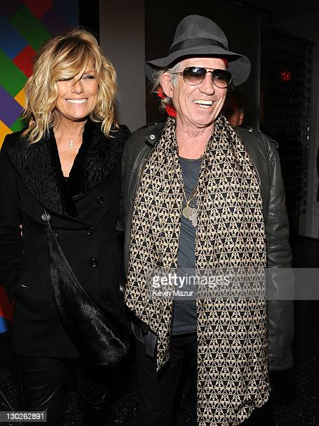 Patti Hansen and Keith Richards attend the 'The Rum Diary' New York premiere at the Museum of Modern Art on October 25 2011 in New York City