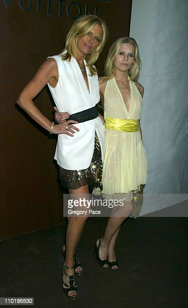 Patti Hansen and Theodora Richards during Louis Vuitton 150th Anniversay Celebration Inside at Louis Vuitton Tent at Lincoln Center in New York City...