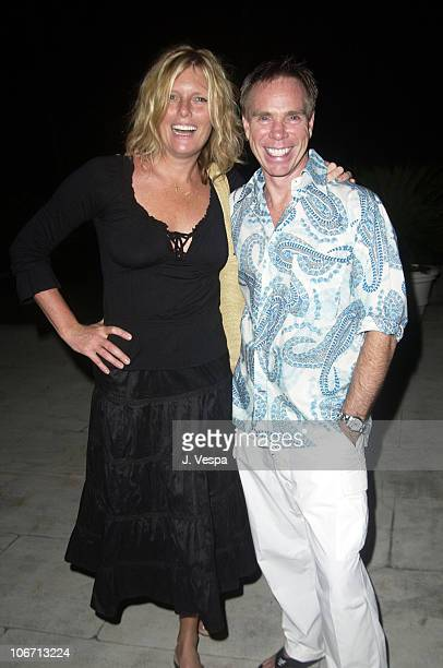 Patti Hansen and Tommy Hilfiger during Tommy Jeans Photo Shoot in Mustique in Mustique Bahamas