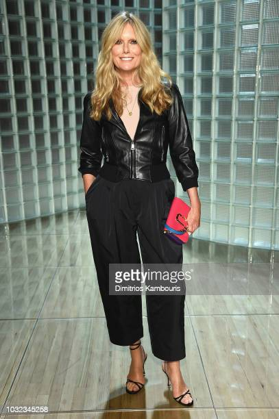 Patti Hansen attends the Marc Jacobs Spring 2019 Runway during New York Fashion Week The Shows at Park Avenue Armory on September 12 2018 in New York...