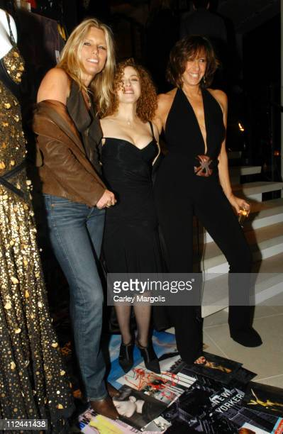 Patti Hansen Bernadette Peters and Donna Karan during Donna Karan Celebrates the First Twenty Years with the Launch of The Journey of a Woman 20...