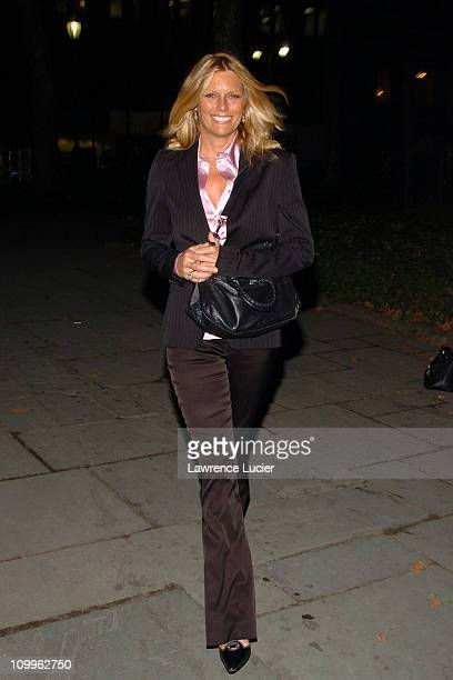 Patti Hansen during Olympus Fashion Week Spring 2005 Luca Luca Front Row and Backstage at Theater Tent Bryant Park in New York City New York United...