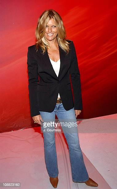 Patti Hansen during Olympus Fashion Week Spring 2005 Matthew Williamson Front Row and Backstage at Splashlight Studios in New York City New York...