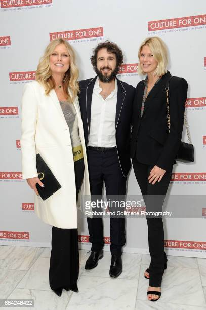 Patti Hansen Josh Groban and Alexandra Richards attend Culture For One To Host Fifth Annual Benefit To Provide Access To the Arts For NYC Children in...
