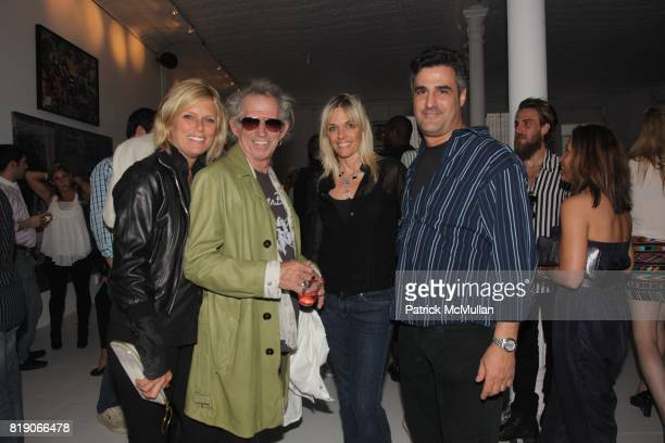 Patti Hansen Keith Richards Yura Mohr and Chris Mullarkey attend PYT Pretty Young Thing cocurated by Anne Huntington Diana Campbell at 833 Broadway...