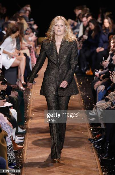 Patti Hansen walks the runway during the Michael Kors Collection Fall 2019 Runway Show at Cipriani Wall Street on February 13 2019 in New York City