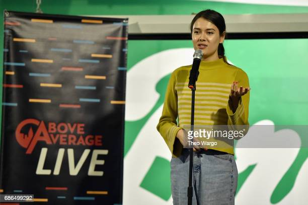 Patti Harrison performs on stage at the Above Average Live Comedy Showcase presented by Vulture Festival on May 21 2017 in New York City