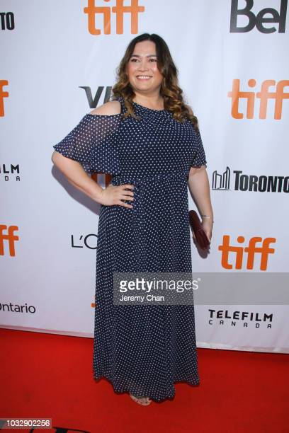 Patti Kim attends the The Lie premiere during 2018 Toronto International Film Festival at Roy Thomson Hall on September 13 2018 in Toronto Canada