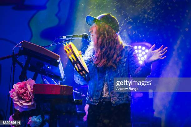 Patti King of The Shins performs on the Mountain stage during day 4 at Green Man Festival at Brecon Beacons on August 20, 2017 in Brecon, Wales.