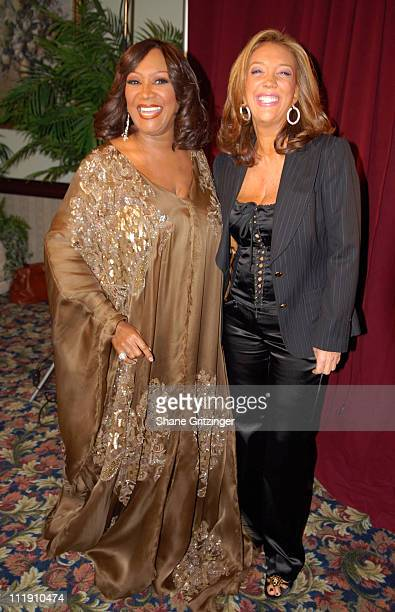 Patti LaBelle and Denise Rich during Patti LaBelle 'The Gospel According To Patti' Tour Brooklyn November 17 2006 at Christian Cultural Center in...