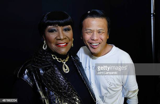 Patti LaBelle and Designer Zang Toi attends Zang Toi fashion show during spring 2016 New York Fashion Week at The Shows at The Dock Skylight at...