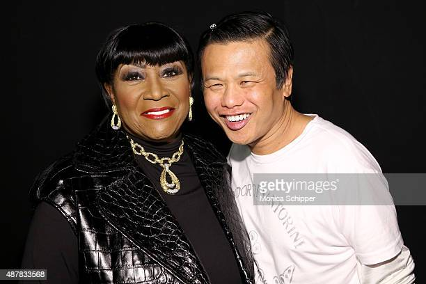 Patti LaBelle and designer Zang Toi pose backstage at the Zang Toi fashion show during Spring 2016 New York Fashion Week The Shows at The Dock...