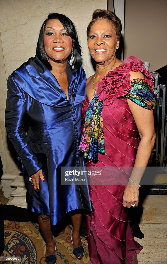 Patti LaBelle and Dionne Warwick attends the amfAR New York Gala to kick off Fall 2011 Fashion Week at Cipriani Wall Street on February 9, 2011 in New York City.