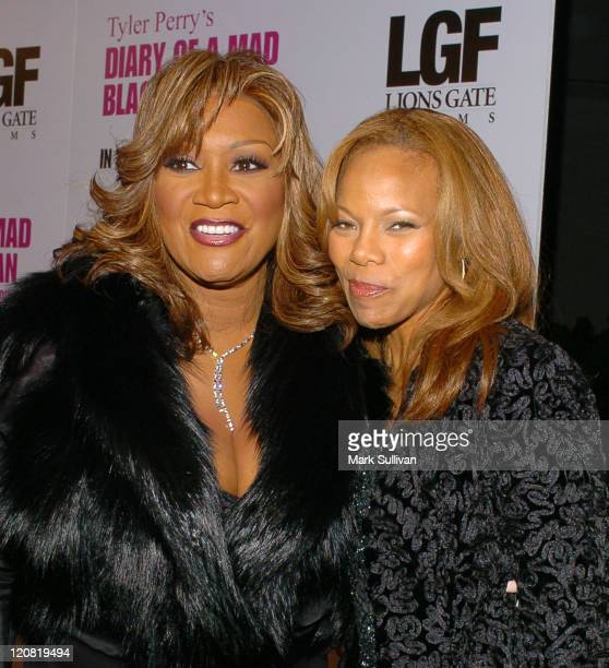 Patti LaBelle and Donna Richardson Joyner during Tyler Perry's Diary of a Mad Black Woman Los Angeles Premiere Arrivals at Arclight Cinerama Dome in...