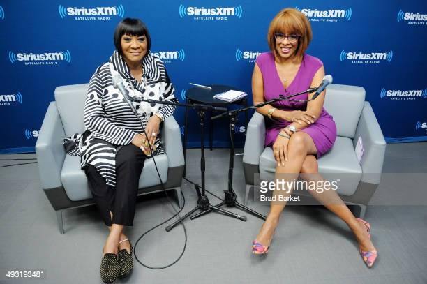 Patti LaBelle and Gayle King pose in the SiriusXM Studio on May 22 2014 in New York City