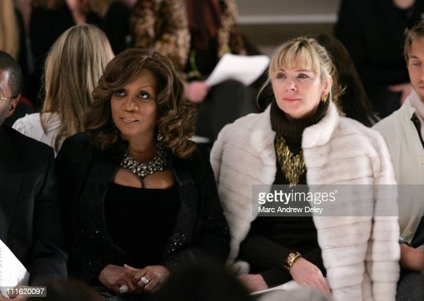 Patti Labelle and Kim Cattrall during MercedesBenz Fashion Week Fall 2007 Dennis Basso Front Row and Backstage at The Promenade Bryant Park in New...