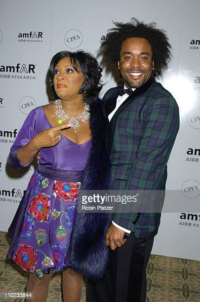 Patti LaBelle and Lee Daniels during Patti LaBelle, Sumner Redstone and Peter Dolan Honored by amfAR at The Pierre Hotel in New York City, New York,...