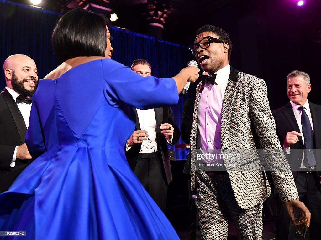 Patti LaBelle and singer Billy Porter perform during Angel Ball 2015 hosted by Gabrielle's Angel Foundation at Cipriani Wall Street on October 19, 2015 in New York City.