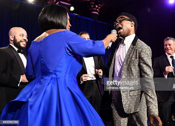 Patti LaBelle and singer Billy Porter perform during Angel Ball 2015 hosted by Gabrielle's Angel Foundation at Cipriani Wall Street on October 19...
