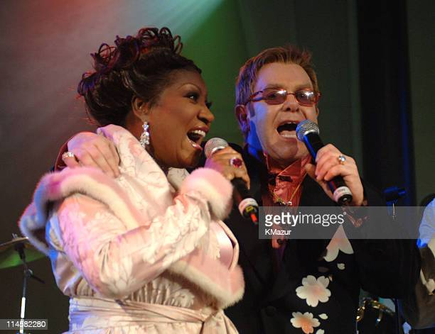 Patti LaBelle and Sir Elton John wearing Chopard during The 7th Annual White Tie and Tiara Ball to Benefit the Elton John Aids Foundation in...