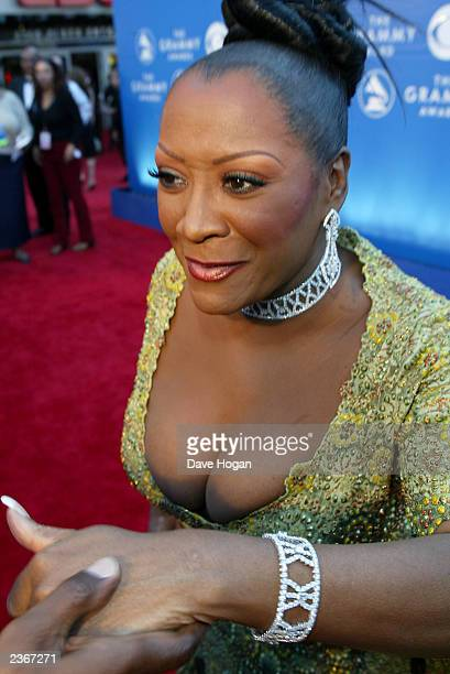 Patti LaBelle arrives at the 44th Annual Grammy Awards at the Staples Center in Los Angeles Ca Feb 27 2002