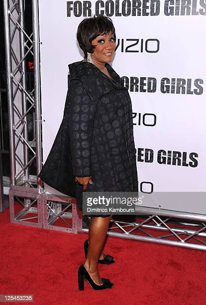 """Patti LaBelle attends the premiere of """"For Colored Girls"""" at the Ziegfeld Theatre on October 25, 2010 in New York City."""