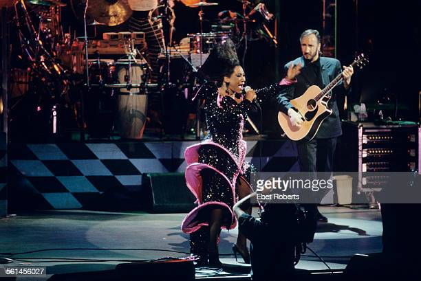 Patti LaBelle joins The Who for a performance of 'Tommy' at the Universal Amphitheater in Los Angeles California on August 24 1989