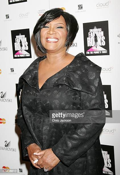 Patti LaBelle poses in the press room at the Swarovski Fashion Rocks concert at the Royal Albert Hall on October 18 2007 in London England