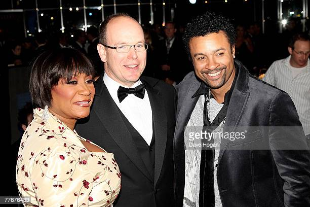 Patti Labelle Prince Albert of Monaco and Shaggy attend the show at the World Music Awards 2007 at the Monte Carlo Sporting Club on November 4 2007...