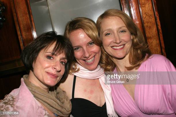 Patti LuPone Amy Ryan and Patricia Clarkson during 'Glengarry Glen Ross' Broadway Opening Night Curtain Call and After Party at The Royale Theater...