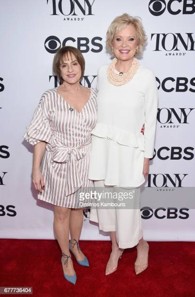 Patti LuPone and Christine Ebersole attend the 2017 Tony Awards Meet The Nominees Press Junket at the Sofitel New york on May 3 2017 in New York City
