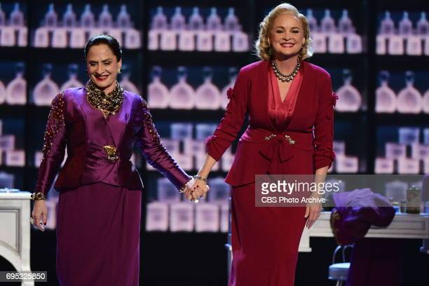 Patti LuPone and Christine Ebersole from War Paint at THE 71st ANNUAL TONY AWARDS broadcast live from Radio City Music Hall in New York City on...