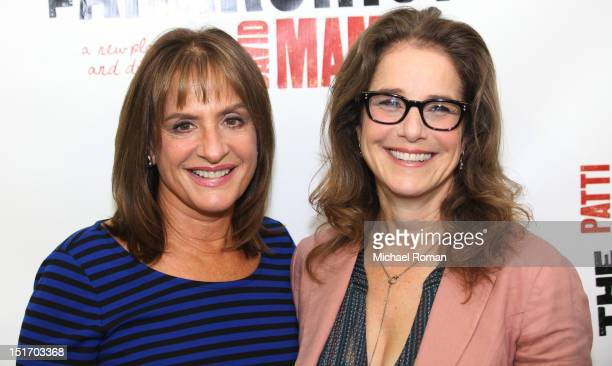Patti LuPone and Debra Winger attend The Anarchist press preview at Davenport Studios on September 10 2012 in New York City