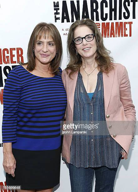 Patti LuPone and Debra Winger attend the The Anarchist cast photo call at Davenport Studios on September 10 2012 in New York City