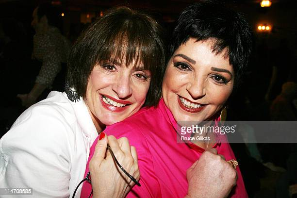 Patti LuPone and Liza Minnelli during 60th Annual Tony Awards Reunion Photo Luncheon June 1 2006 at Sardi's in New York City New York United States