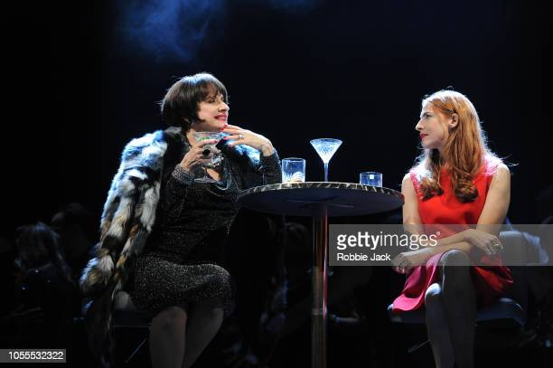Patti Lupone as Joanne and Rosalie Craig as Bobbie in Stephen Sondheim's Company directed by Marianne Elliott at The Gielgud Theatre on October 15...