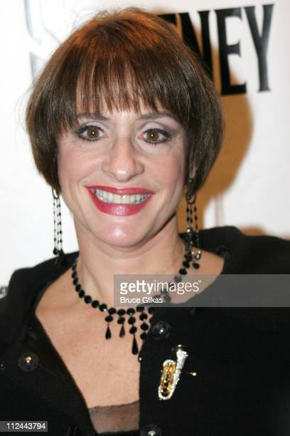 Patti LuPone during Sweeney Todd Opening Night on Broadway at The Eugene O'Neill Theater then The Copacabana in New York City New York United States
